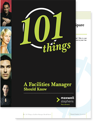 101 Things A Facilities Manager Should Know