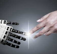 Robots human hand connection