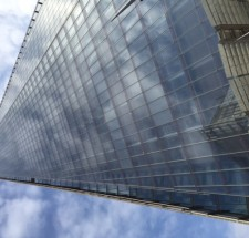 The Shard from the bottom by Maxwell Stephens