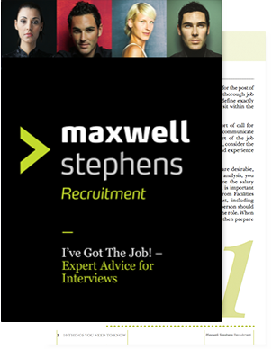 MaxwellStepehens_Ive-got-the-job-cover
