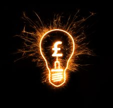 utility costs lightbulb with pound sign