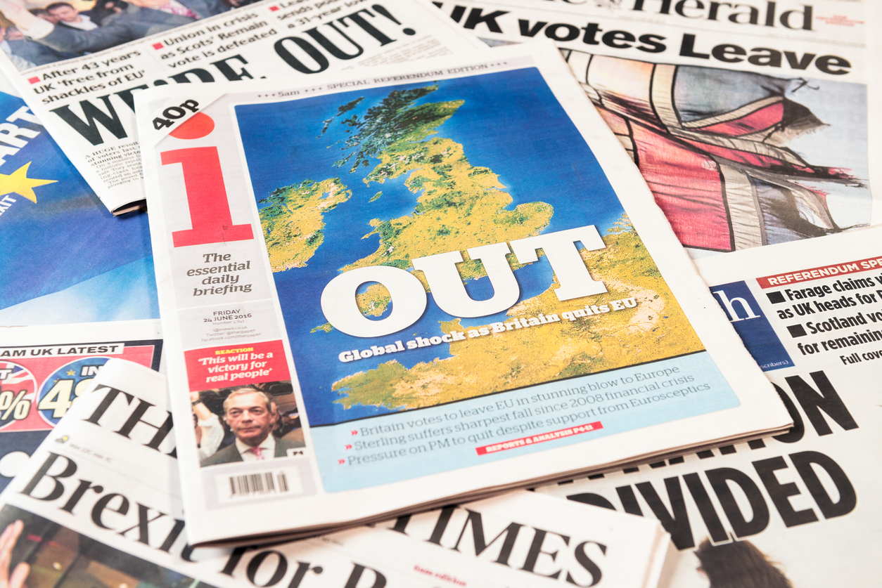 British newspaper frontpages following Brexit vote result article 50