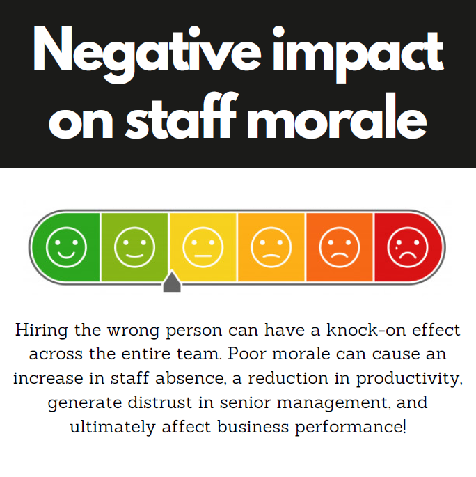 reduced staff morale