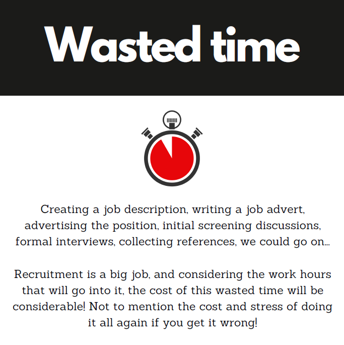 wasted recruitment time